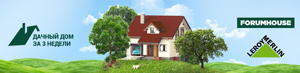 Дачный дом за 3 недели