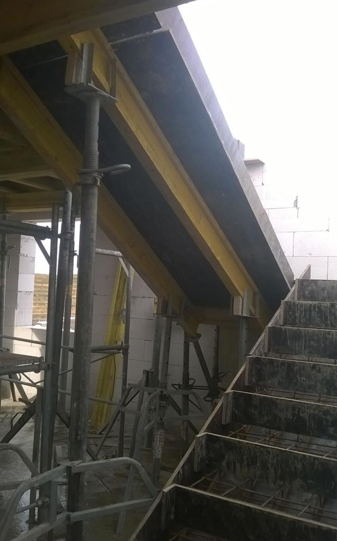 Изображение 2 – Расчет и бетонирование лестницы