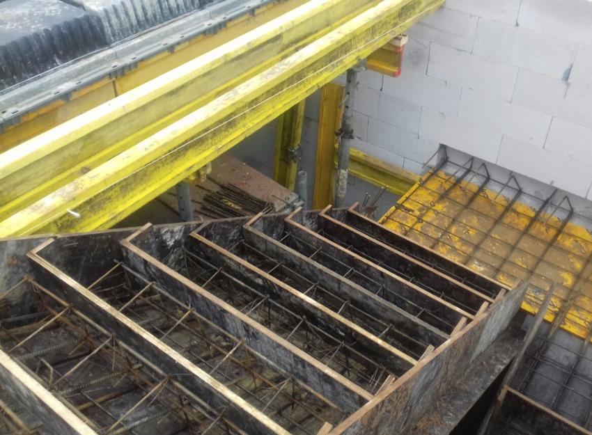 Изображение 5 – Расчет и бетонирование лестницы