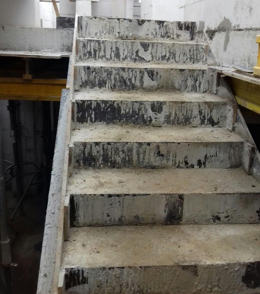 Изображение 9 – Расчет и бетонирование лестницы